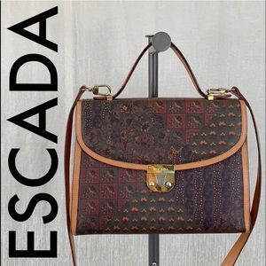 👑 ESCADA VINTAGE SHOULDER/ CROSSBODY 💯AUTHENTIC